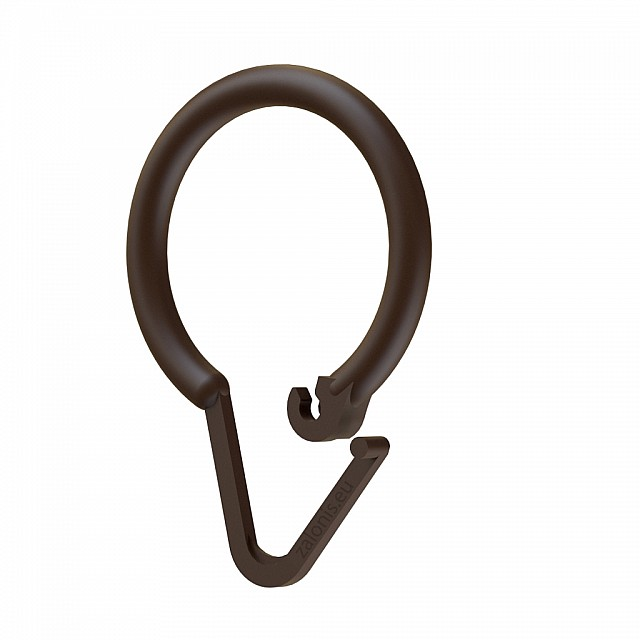 SHOWER CURTAIN RING PLASTIC DARK BROWN